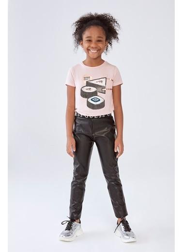 Guess Kız Çocuk Siyah Deri Tayt Siyah